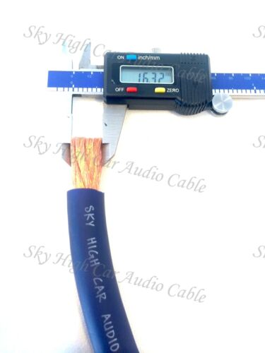 25 ft 2//0 Gauge OFC AWG BLACK Power Ground Wire Sky High Car Audio GA Feet