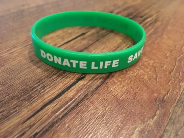 Organ Donor Awareness Bracelet Green And White Ebay