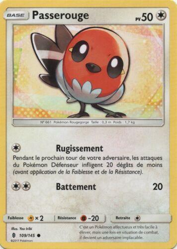 VF Français Pokemon SL2-109//145 Passerouge X1 Reverse