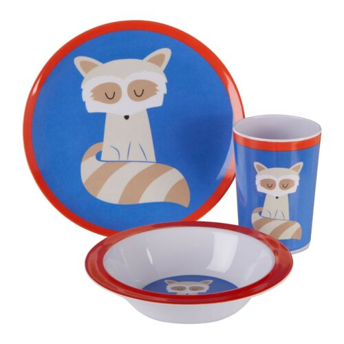 Mimo Kids Dinner Set Different Design Scratch-resistant Plastic For Boys /& Girls