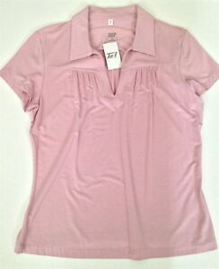 73e02d08 Image is loading Women-039-s-Light-Dusty-Pink-Golf-Shirt-