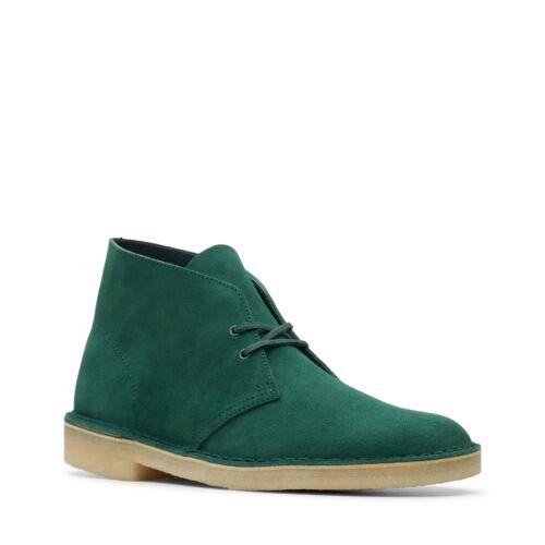 Clarks Originals Men/'s Desert Boots Forest Green Suede 26144165