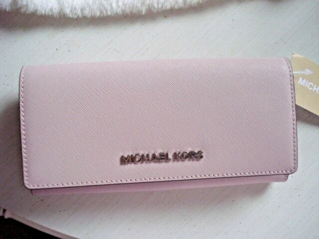 0be69dc8ad8f NWT Michael Kors Jet Set Travel Carryall Flap Wallet Saffiano Leather  Blossom