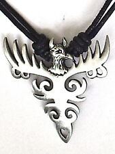 PHOENIX RISING FROM THE ASHES PEWTER PENDANT NECKLACE  P0373