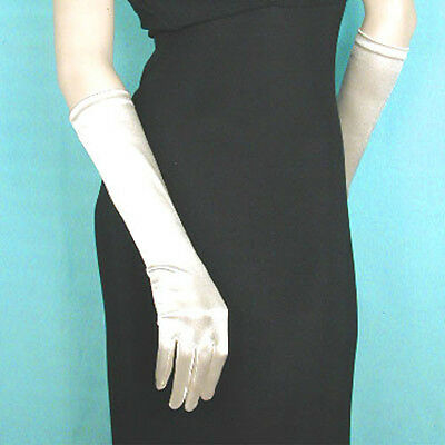 "Below the Elbow Gloves 15"" Long Satin Stretch for Evening, Bridal, Prom (G170)"