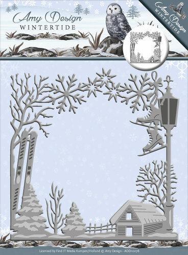 Wintertide Cadre hibou cristaux de glace Swirl décors de cristaux de glace cadre