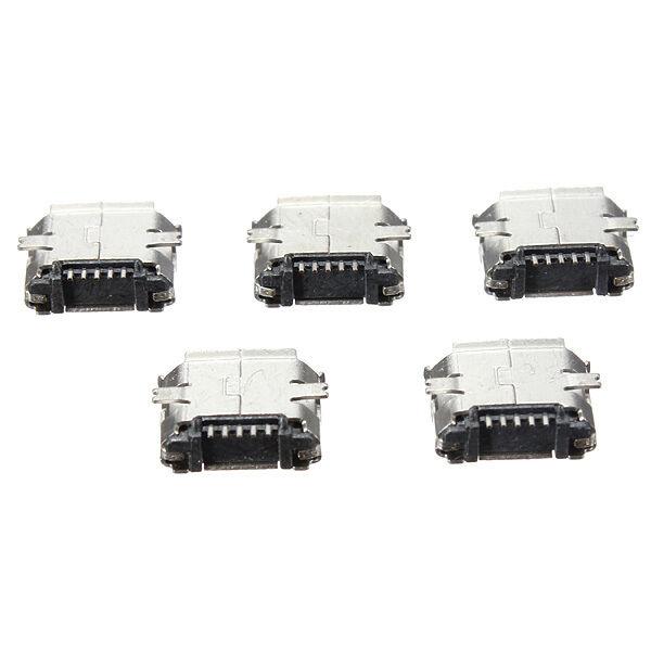 5Pcs Micro USB Type B Female 5Pin SMT Socket Jack Connectors Port PCB Board