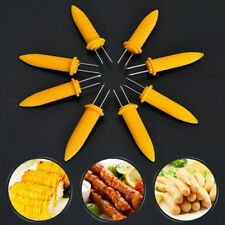12PCS Corn Cob Holders Stainless Steel BBQ Prongs Skewers Forks Party