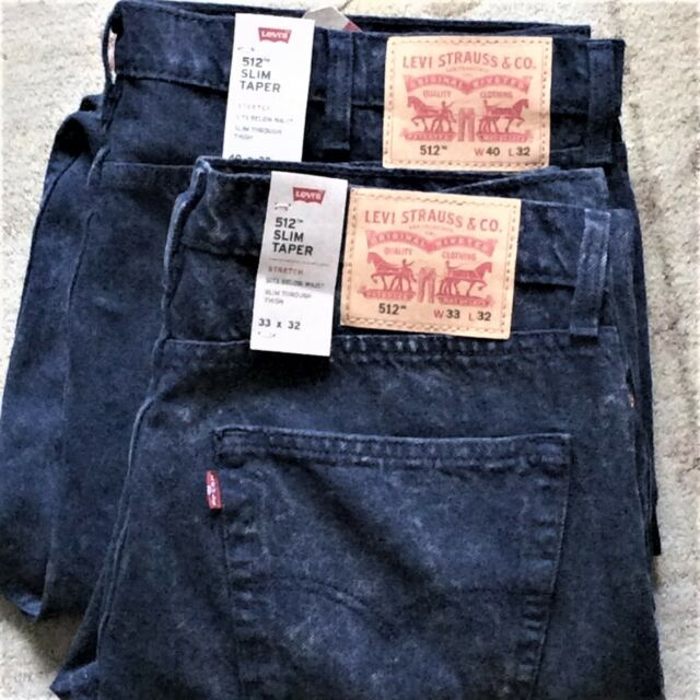Taper Fit Berry Levi's 31x32 Jeans Indigo Slim 0233 Warp Men's Stretch 512 0nvwNOm8
