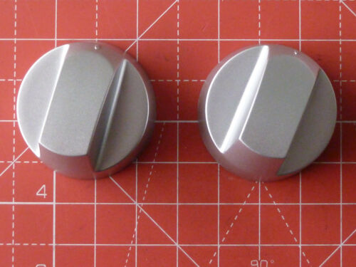 2 x Oven//Hob Universal Knob Silver fits most brands with instructions