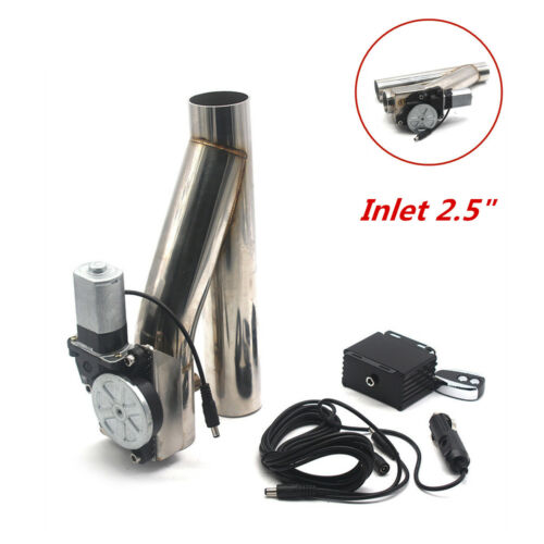 """New Electric Exhaust Piping Tube Downpipe Cutout E-Cut Out Dual-Valve Remote2.5/"""""""