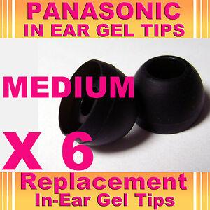 6 Panasonic Hje en auriculares auriculares auriculares auriculares de gel Tips Mediano  </span>