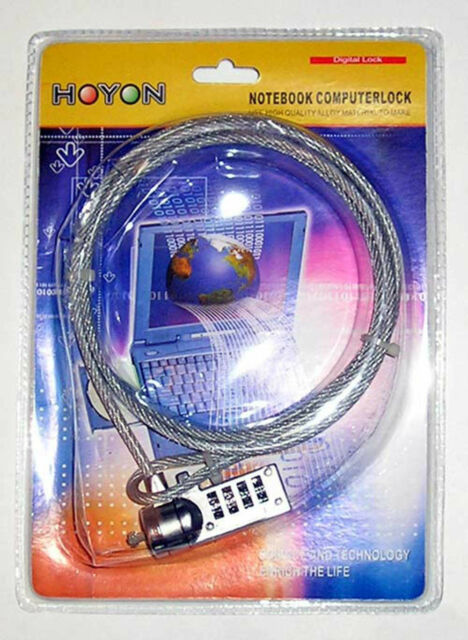 NOTEBOOK LAPTOP COMPUTER LOCK WITH NUMBER SECURITY CABLE CHAIN