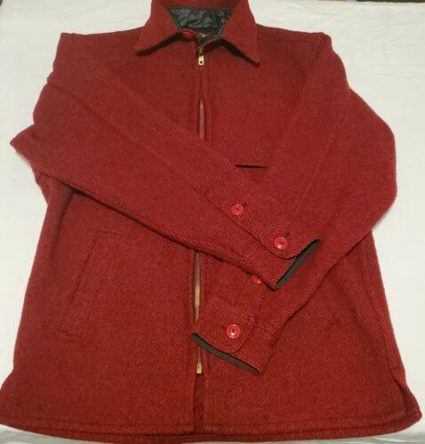 Vintage Johnson Woolen Mills Red/Black Wool Coat S