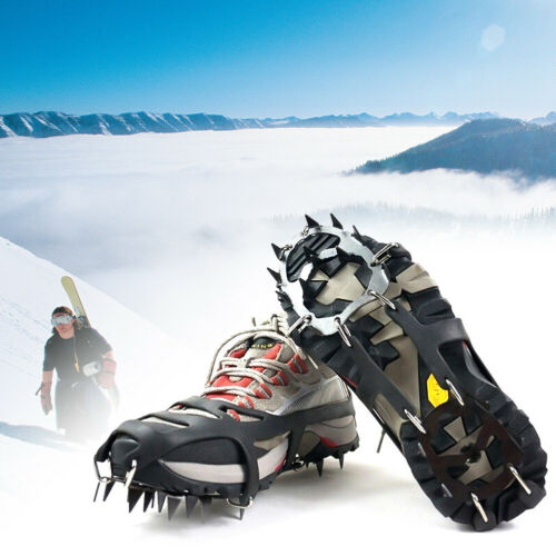 ANTI SLIP 18-TEETH POINT ICE SNOW SHOES SPIKE GRIP BOOTS CHAIN CRAMPONS GRIPPERS