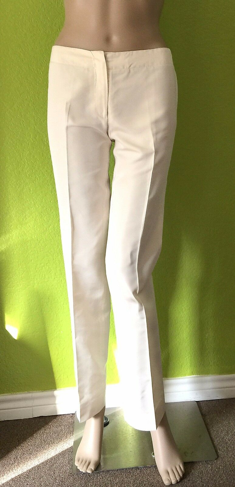 Etro Ivory 100% Silk Straight Leg Dress Pants - Größe 38 - US Größe 4 - EUC