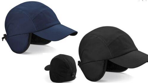 Blau oder Schwarz Wasserdicht Fleece Gefüttert Baseballhut Kappe Mit