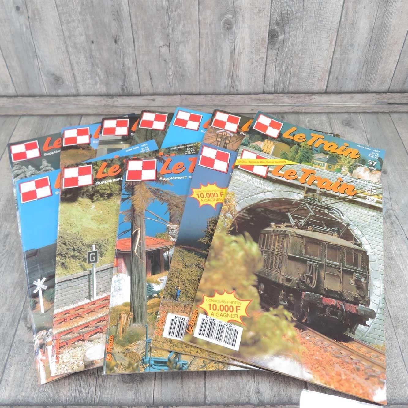 LE TRAIN - 12 Hefte - Jahrgang komlett 1993 -  A21155