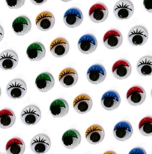 Stick on Craft Eyes Colour Wiggly Wobbly Googly Eye Choose Size UK Seller
