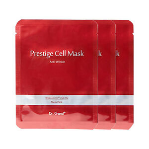 3pcs Anti-Aging Dr.Grand+ Prestige Cell Mask Pack Sheet