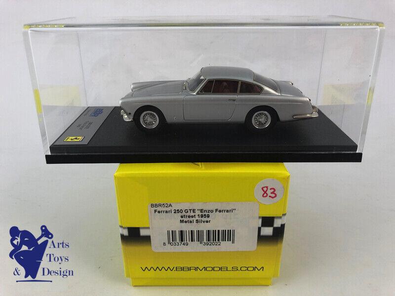 143 BBR 52A FERRARI 250 GTE ENZO FERRARI STREET 1959 METAL argento