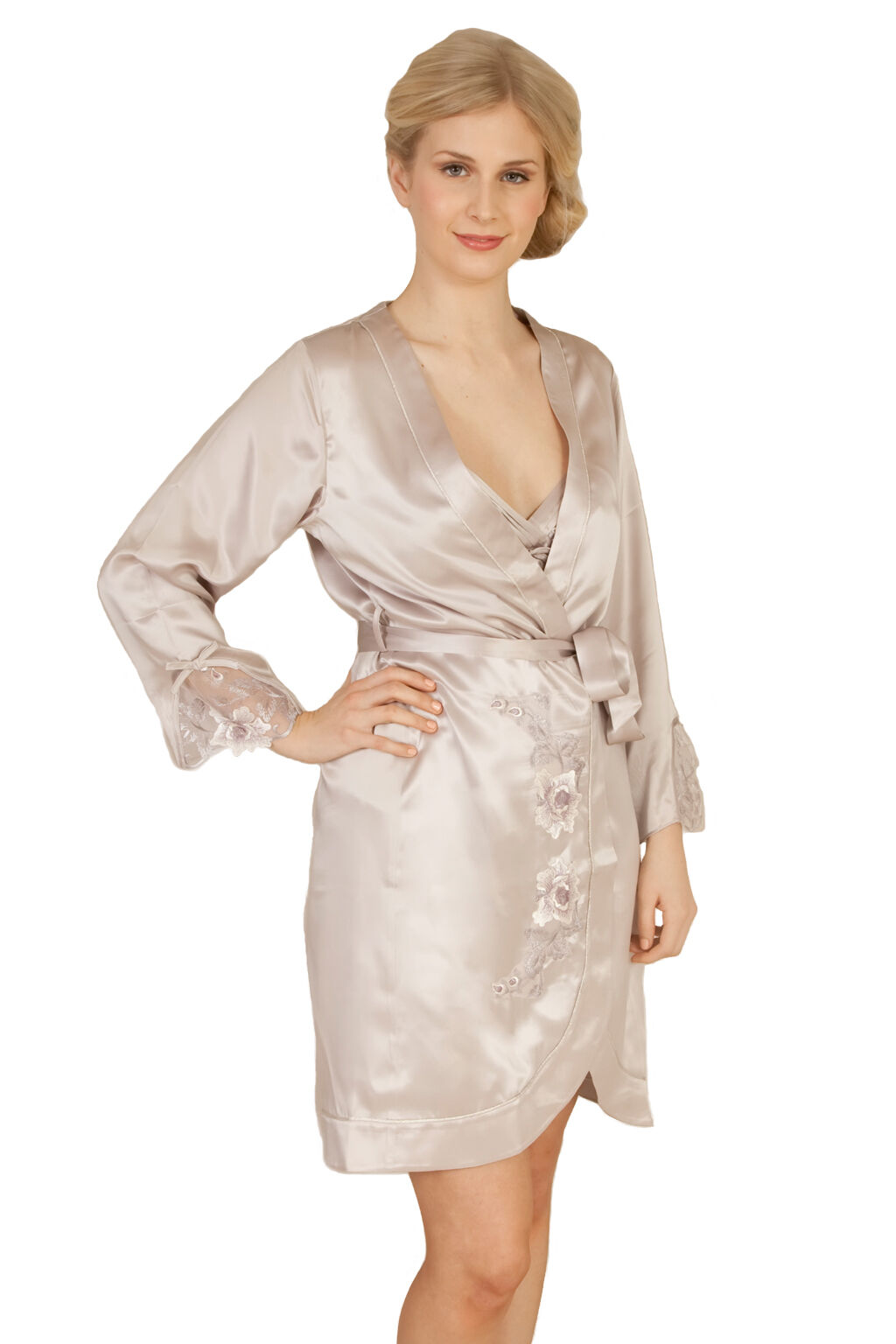 Luxurious Pure Silk Absolute Glamour Dressing Gown NEW & Gift Box SizeL