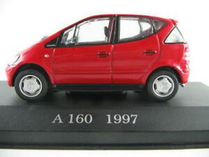 Altaya-54-mercedes-benz-a-clase-1997-en-rojo-1-43-nuevo-PC-vitrina