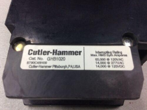 CUTLER HAMMER GHB GHB1020 Circuit Breaker 1 Pole 20 Amp 277 VAC