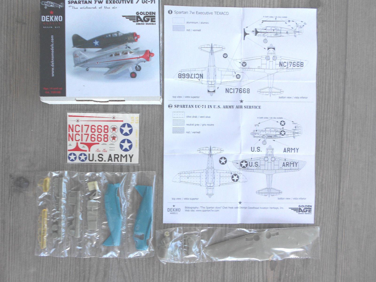 SPARTAN 7W EXECUTIVE UC-71  TEXACO USARMY  DEKNO MODELS RESIN 1 72