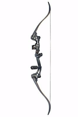 "High Quality 61.5"" Black Recurve Aluminum Bow 50lbs F Archery Bows W/Arrow Rest"