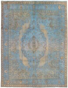 Hand-knotted-Carpet-10-039-0-034-x-12-039-9-034-Traditional-Vintage-Wool-Rug