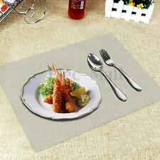 Set Of Clear Placemats Seethrough Plastic Place Mat Table Cloth - Clear placemats for table