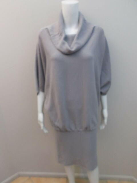 AS NEW MORRISSEY, WOOL BLEND GREY DRESS SIZE SMALL=8/10  (#G1413)