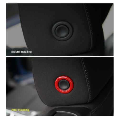 2x Red ABS Car Tail Trunk Button Cover Trim Frame Ring for Chevrolet Camaro 17+