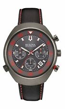 Bulova Men's 98B252 Accutron II Lobster UHF Chronograph Leather Strap 45mm Watch