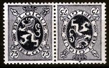 Belgien K 11 **, 75 C. Wappenlöwe, Kehrdruck-Zusammendruck