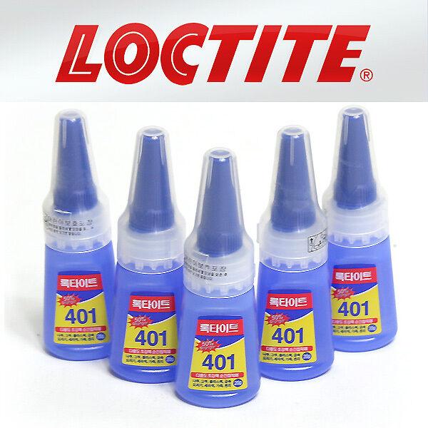 5 pcs x 20g Instant Adhesive Super Glue Henkel Loctite 401 Rapid  Multi-purpose