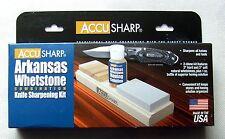 Accusharp Arkansas Whetstone Schleifstein Soft & Hard Schleiföl Knife sharpening
