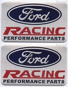 Ford Racing Performance Parts >> Two 2 Ford Racing Performance Parts Emblems Brushed Aluminum