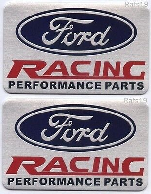 Ford Racing Parts >> Two 2 Ford Racing Performance Parts Emblems Brushed Aluminum Finish Ship Fast Ebay