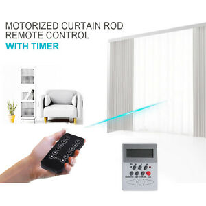 Free Timer And Motorized Drapery Remote Control Electric Curtain Track 0 39 20 39 Ebay