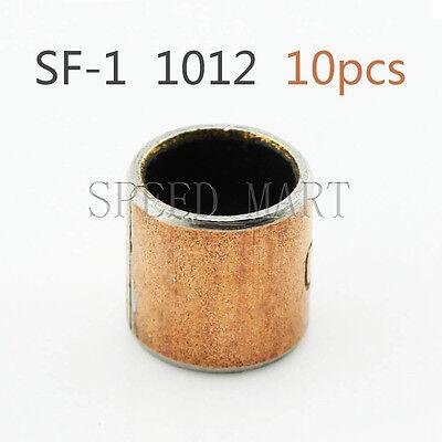10pcs SF-1 10* 12* 10mm Self Lubricating Composite Bearing Bushing lSeeve