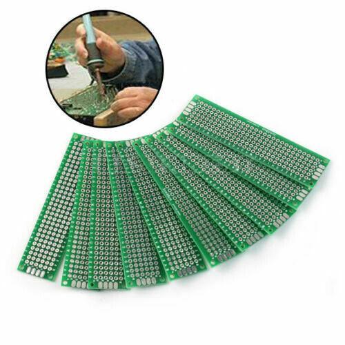 10pc 2x8 cm Double Side DIY Prototype Circuit Breadboard PCB Universal Board