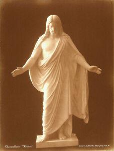 B-THORVALDSEN-Antique-XRare-1907-Sepia-toned-Bromide-Photo-KRISTUS-Christ