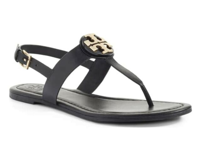 Tory Burch Bryce Leather Flats Thong