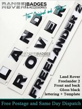 Land Rover Freelander 2 Badge Lettering Boot Bonnet Black Land Rover Letters