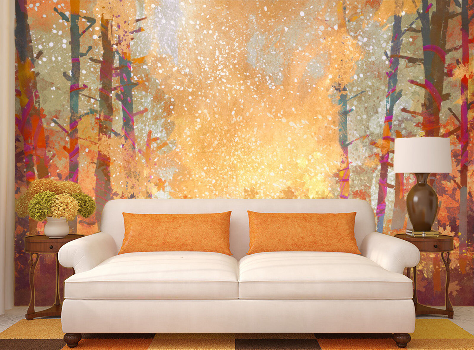 3D painting Flashes forest Wall Paper Print Decal Wall Deco Indoor wall Mural