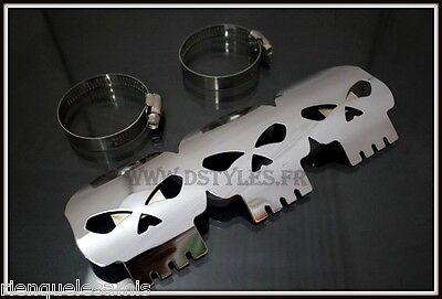 pare chaleur Tête de Mort Skull pour moto custom NEUF ornement Cache pot