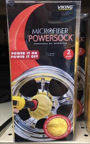 """Viking Microfiber Mini POWERSOCK 2-Pack 7/"""" Diameter Polishing Bonnets 870100"""