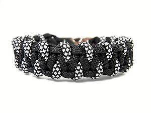 Ancre Bracelet-Paracord Bracelet-Bracelet de surfeur-Réglable-couleurs d/'accentuation-Noir